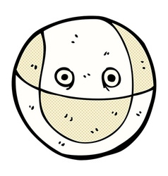 Comic cartoon ball vector