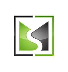 creative ms letter logo vector image