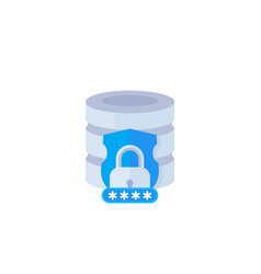database security vector image