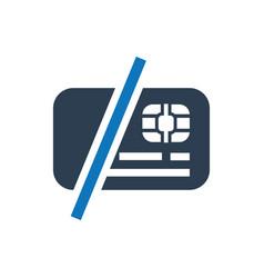 Debt free icon vector