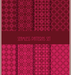decorative line tile backgrounds vector image