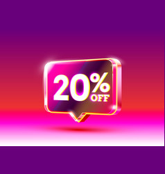 Discount special offer 20 off sale flyer vector