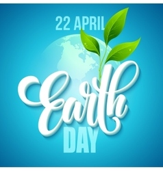 Earth Day poster with the vector image