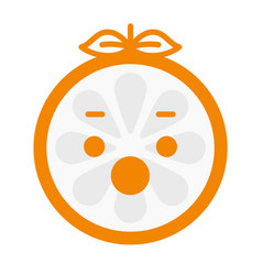 Emoji - scream orange smile isolated vector