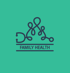 Family health logo vector