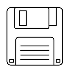 floppy disk icon data backup retro vector image