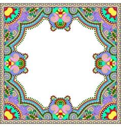floral vintage frame ukrainian ethnic style vector image