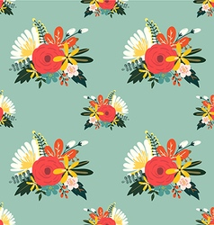 Flower seamless pattern vintage style vector