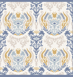 french shabby chic damask texture vector image