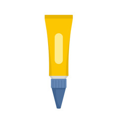 Glue tube icon flat style vector