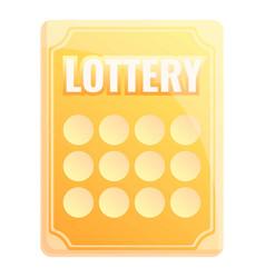 Gold lottery icon cartoon style vector
