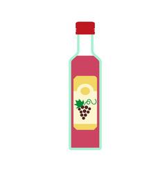 Grapes vinegar icon flat style vector