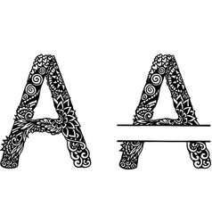 Hand drawn letter vector