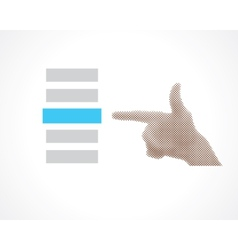 hand selects vector image