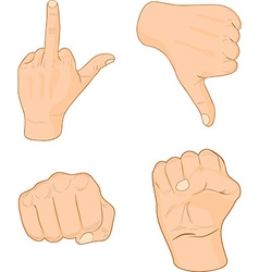 Hand signs vector