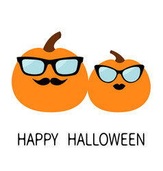 happy halloween pumpkin family love couple funny vector image