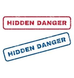 Hidden Danger Rubber Stamps vector