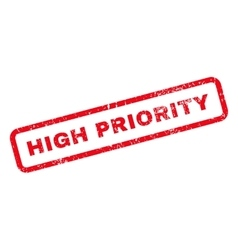 High priority text rubber stamp vector