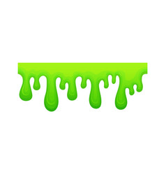 Horizontal sticky slime which is flowing down vector