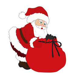 Illustration for christmas and new year santa vector