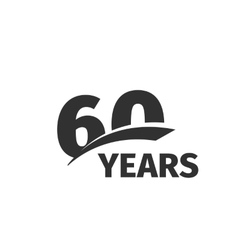 Isolated abstract black 60th anniversary logo on vector image