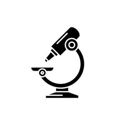 laboratory microscope black icon sign on vector image