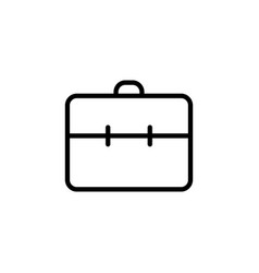 line briefcase portfolio icon on white background vector image