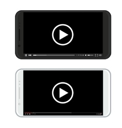 modern black and white smartphones vector image