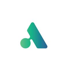 modern letter a symbol logo design template vector image