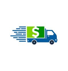 money delivery logo icon design vector image