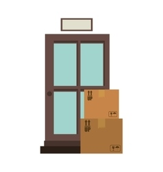Office logistic with carton boxes set vector