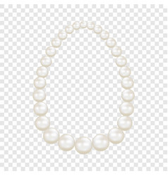 Pearls mockup realistic style vector