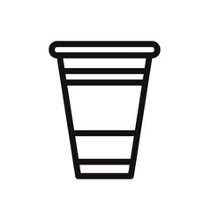plastic cup icon vector image