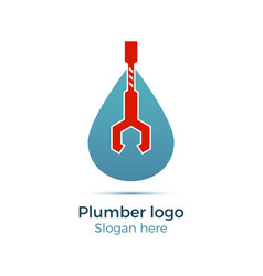 plumbing company logo vector image