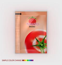 Realistic blank plastic foil bag for branding vector