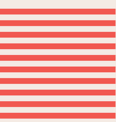 Red and beige horizontal stripes seamless vector