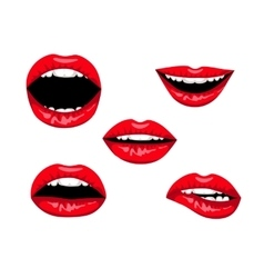 Red woman lips vector