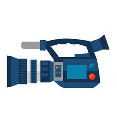 reportage video camera vector image
