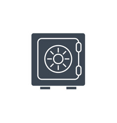 safe related glyph icon vector image