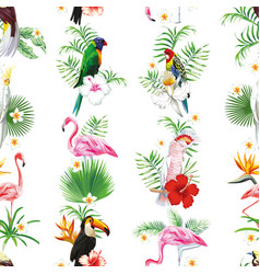 seamless bird design pattern vector image