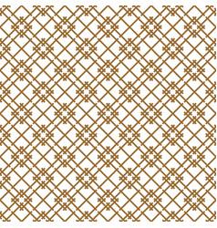 Seamless japanese pattern shoji kumiko in brown vector