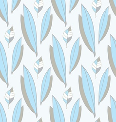 Seamless pattern of blue-gray leaves vector