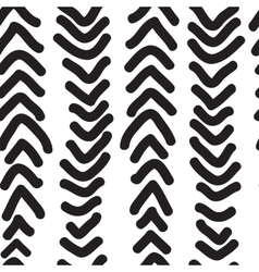 Seamless pattern with hand drawn vertical doodles vector