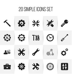 Set of 20 editable toolkit icons includes symbols vector