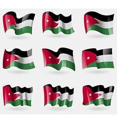 Set of jordan flags in the air vector