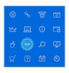 Set of Seo Search Engine Optimization Elements can vector