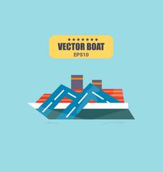 ship at sea transport shipping boats in vector image