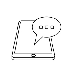 smartphone bubble speech chat communication linear vector image