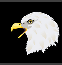stylized bald eagle head vector image