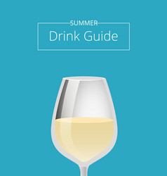 Summer drink guide advertising poster with glass vector